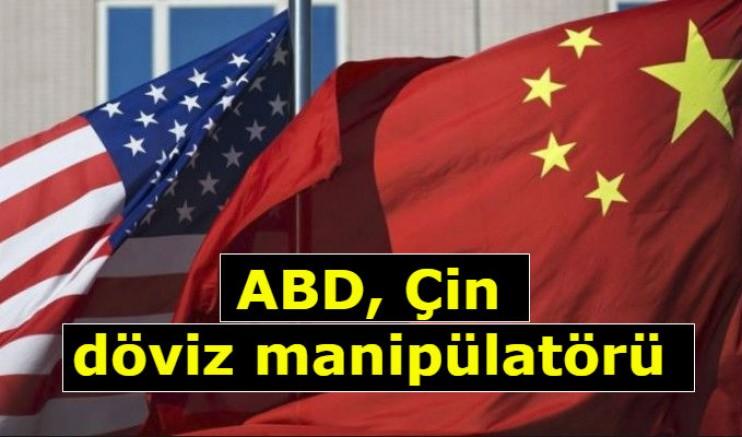 ABD, Çin döviz manipülatörü
