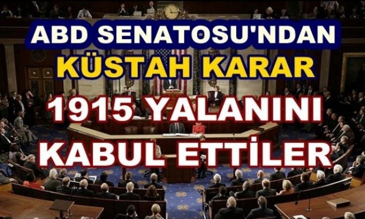 ABD Senatosu, sözde 'Ermeni soykırımı' tasarısını kabul etti