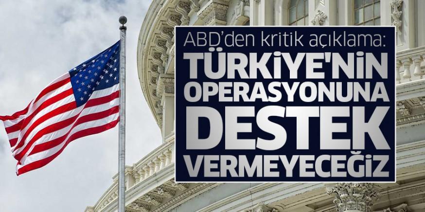 ABD Türkiye' nin Suriye' nin kuzeyine yapacağı operasyona dahil olmayacak