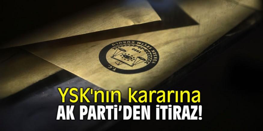 AK Parti'den YSK'ye itiraz