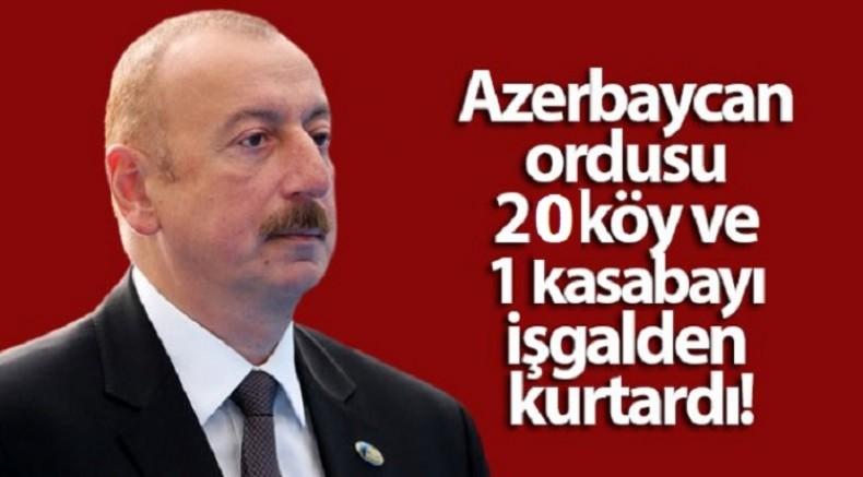 Azerbaycan Cumhurbaşkanı Aliyev: 20 köy ve 1 kasaba daha işgalden kurtarıldı