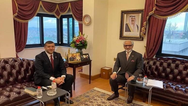 Baki Ersoy'dan Kuveyt Ankara Büyükelçisine ziyaret