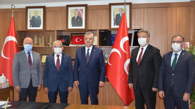 Belediye Başkanlarından MHP İl Başkanı Adnan İncetoprak'a hayırlı olsun ziyareti