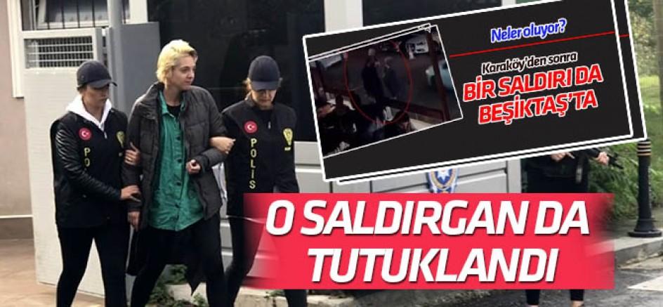 Beşiktaş'ta başörtülü kadına saldırının faili tutuklandı