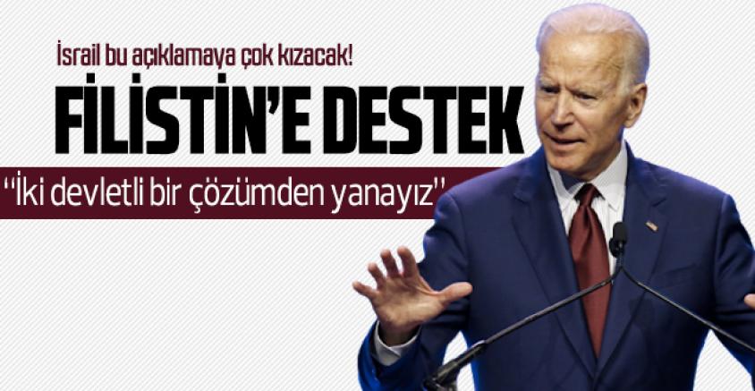 Biden, Filistin'de iki devletli çözüm dedi, İsrail salonu terk etti