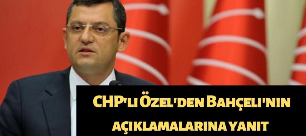 CHP 'den Bahçeli'nin açıklamalarına yanıt