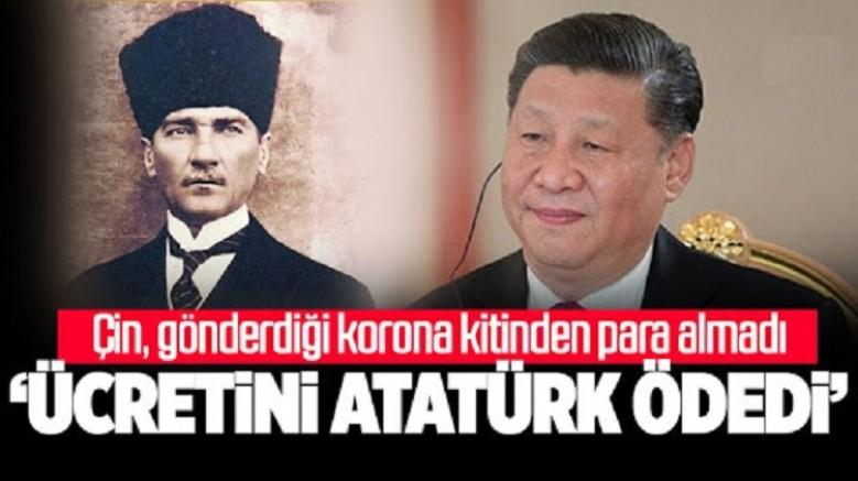Çin 2 milyon virüs kiti gönderdi. Ücretini Atatürk ödedi dediler