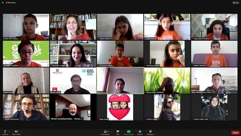 """""""Çocukların Küresel Tasarım Maratonu 2021"""" Kayseri finali online olarak gerçekleştirildi"""