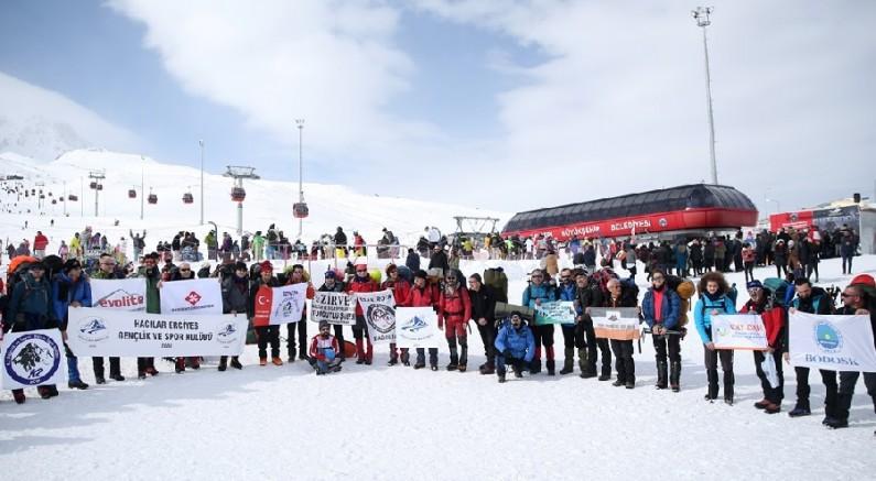 Hacılar Erciyes 10. Uluslararası Zirve Tırmanışı başladı