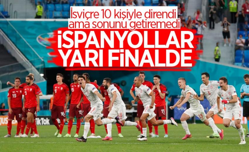 İspanya  Avrupa Futbol Şampiyonası'nda yarı finale çıktı