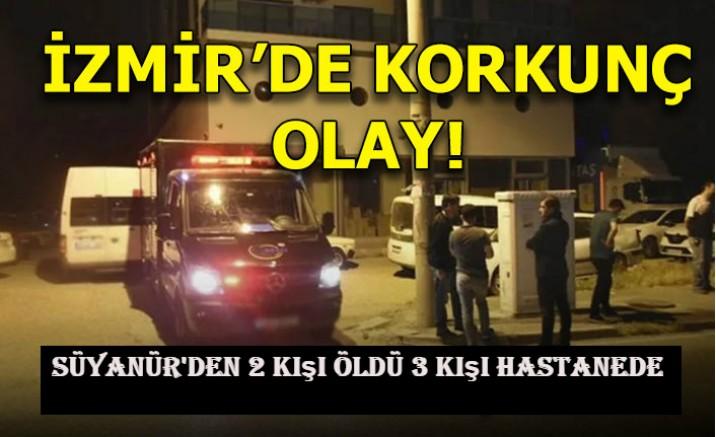 İzmir'de siyanür' den zehirlenen 2 kişi öldü 3 kişi hastanede