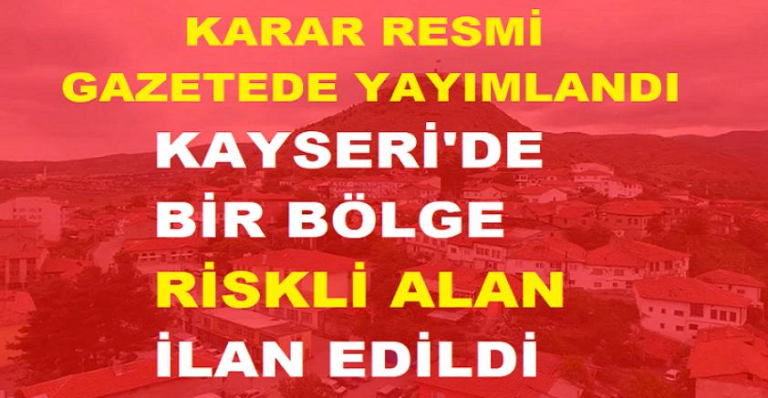 Kayseri'de bir bölge