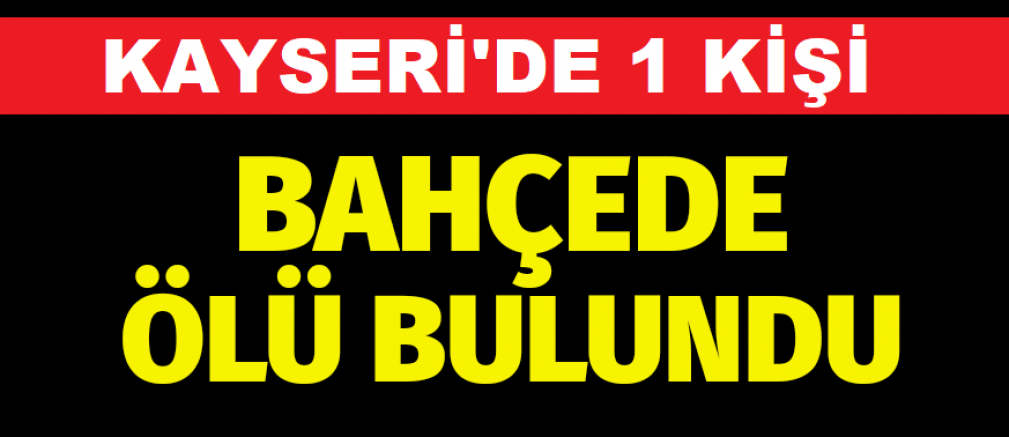 Kayseri'de bir kişi kulübe yaptırdığı bahçede ölü bulundu