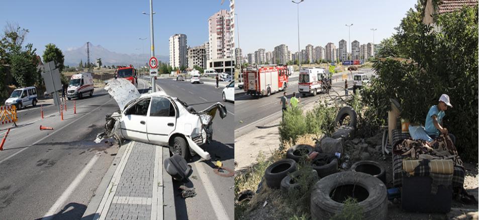 Kayseri'de evinin bahçesinde uyuyan çocuk otomobilin altında kalmaktan şans eseri kurtuldu