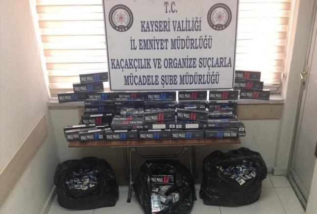 Kayseri'de kaçakçılık operasyonları