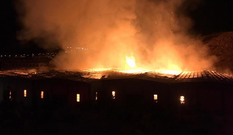 Kayseri'de kağıt fabrikasında yangın çıktı