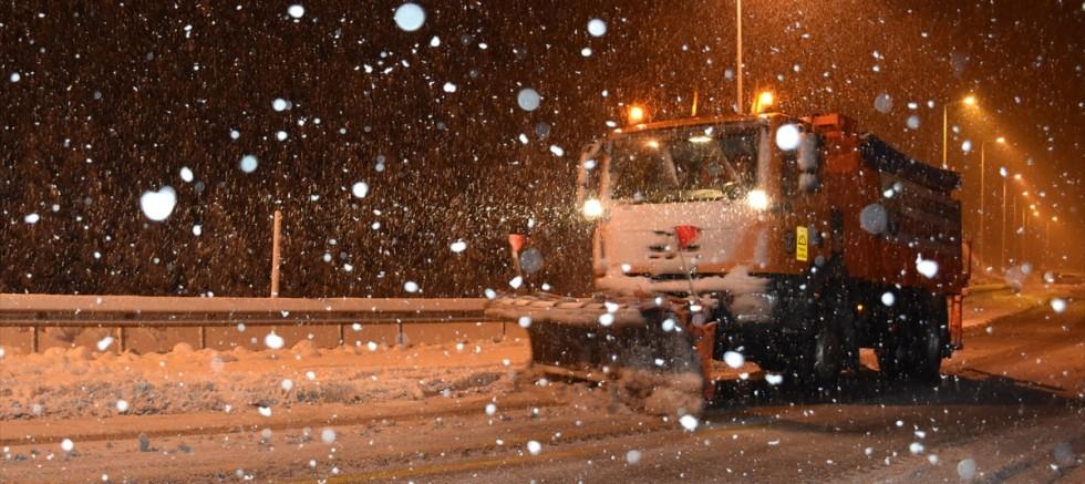 Kayseri 'de kar yağışı etkili oldu