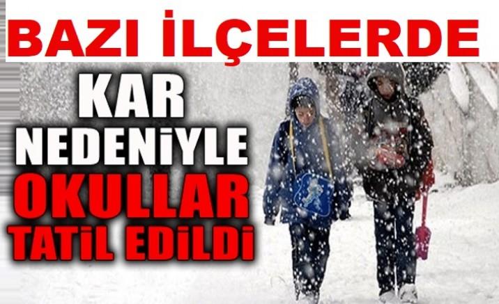 Kayseri'de kar yağışı nedeniyle bazı ilçelerde eğitime1 gün ara verildi