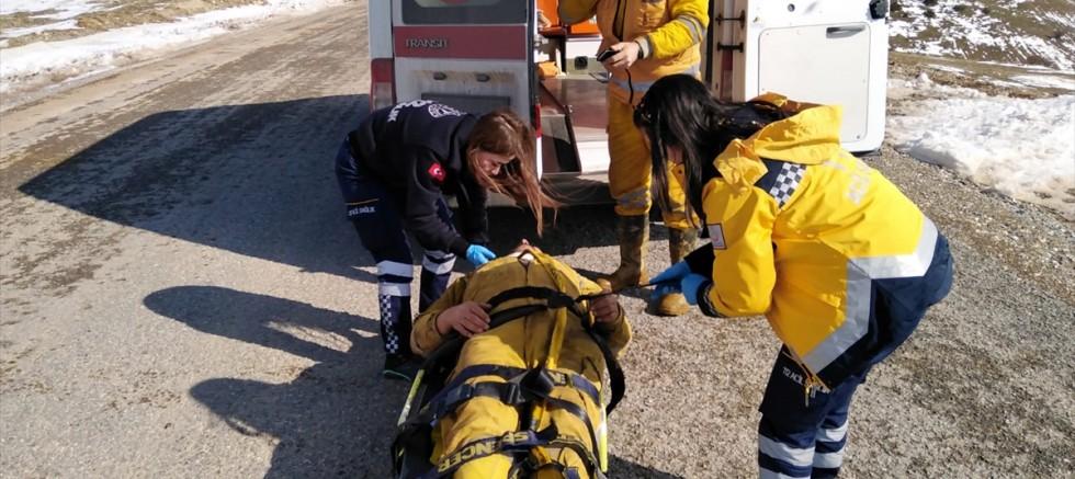 Kayseri'de maden ocağındaki iş kazasında bir işçi yaralandı