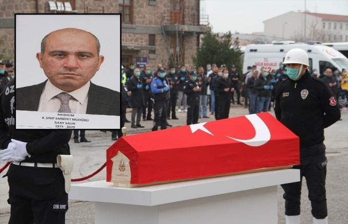Kayseri'de trafik kazasında ölen asayiş şube müdürünün cenazesi defnedildi
