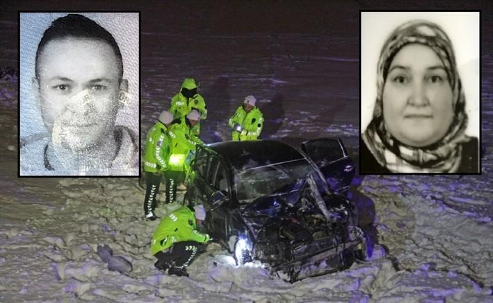 Kayseri'de trafik kazasında uzman çavuş ve kayınvalidesi hayatını kaybetti