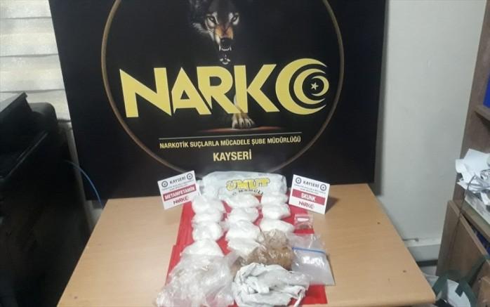 Kayseri'de uyuşturucu operasyonları: 16 gözaltı