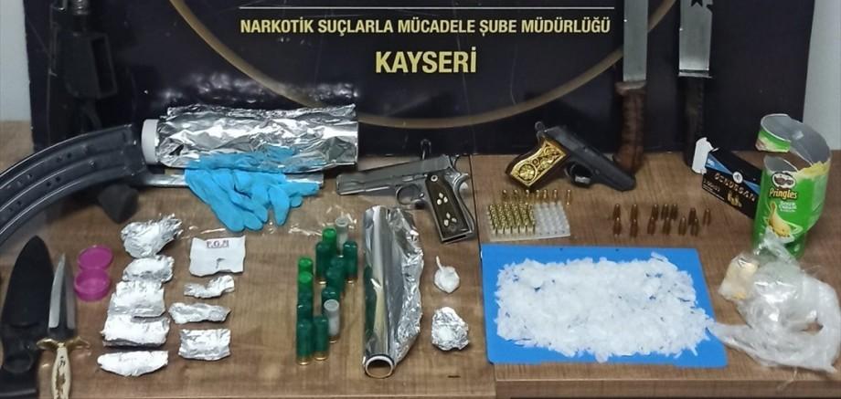 Kayseri'de uyuşturucu operasyonlarında 7 kişi gözaltında