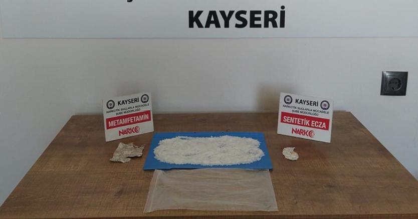 Kayseri'de uyuşturucu operasyonunda 1 kişi yakalandı