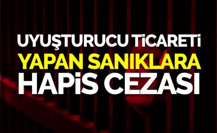Kayseri'de uyuşturucu ticareti sanıklarına hapis cezası