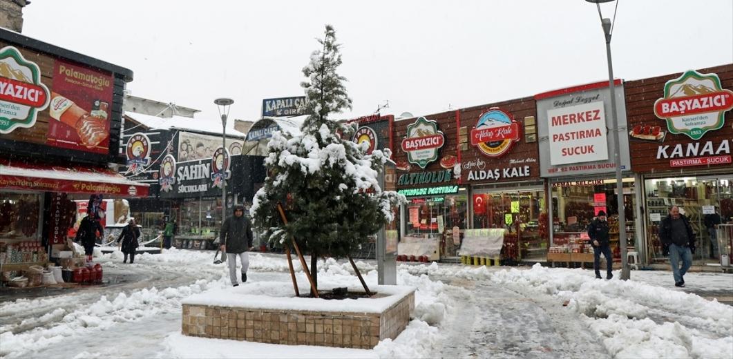 Kayseri'de yoğun kar yağışı