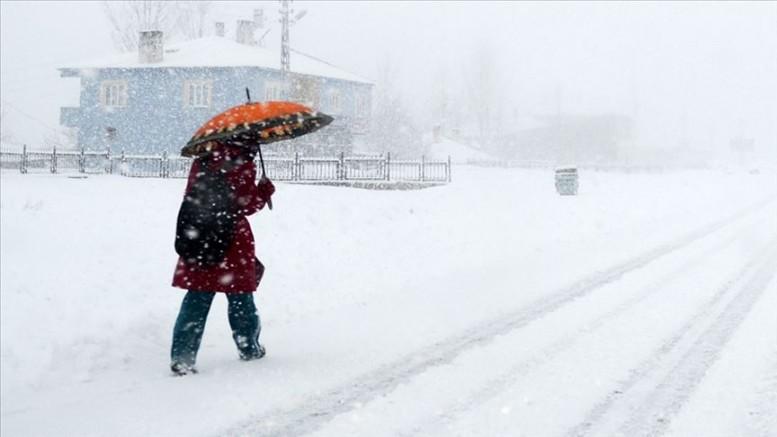 Kayseri'nin Bünyan ilçesinde eğitime kar engeli