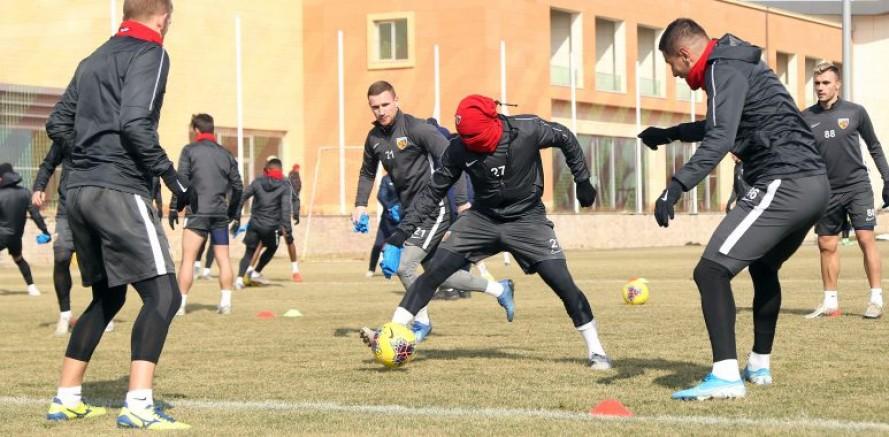 Kayserispor, Konyaspor maçının hazırlıklarını sürdürdü