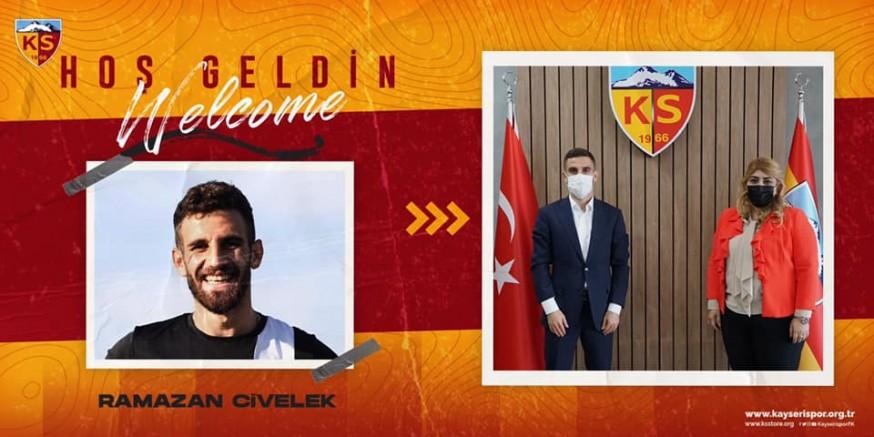 Kayserispor, Ramazan Civelek ile 2,5 yıllık sözleşme imzaladı