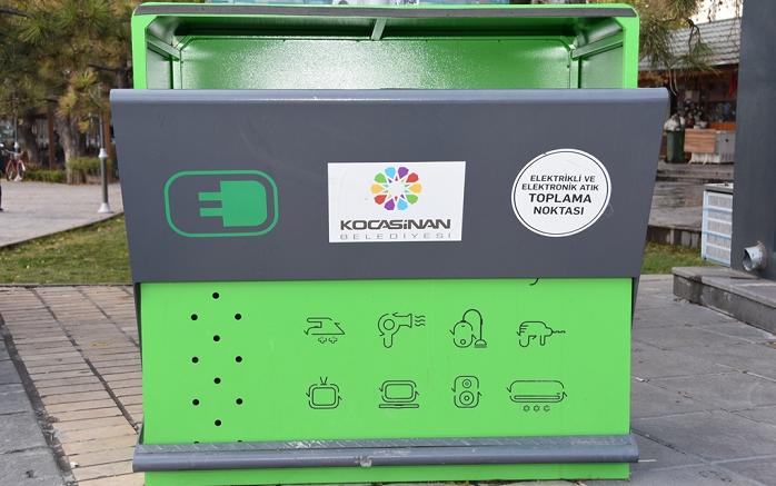 Kocasinan'da 8 ayda 8 ton elektronik atık ekonomiye kazandırıldı