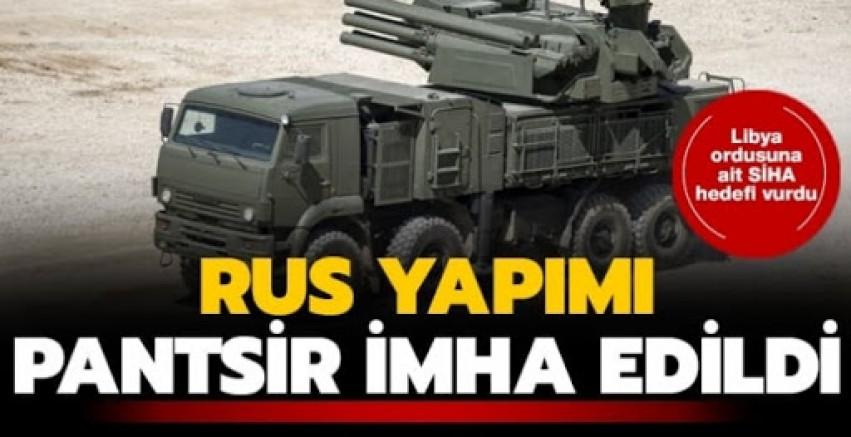 Libya ordusu Hafter milislerine BAE'nin temin ettiği  Rus yapımı Pantsir 'i imha etti