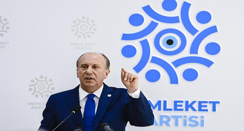 Memleket Partisi Genel Başkanı İnce basın toplantısı düzenledi