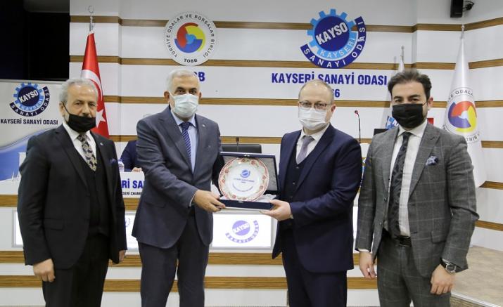 Özbekistan işadamları heyetinden KAYSO'ya ziyaret