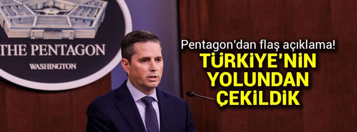 Pentagon: Türkiye 'nin muhtemel müdahale yolundan çekildik