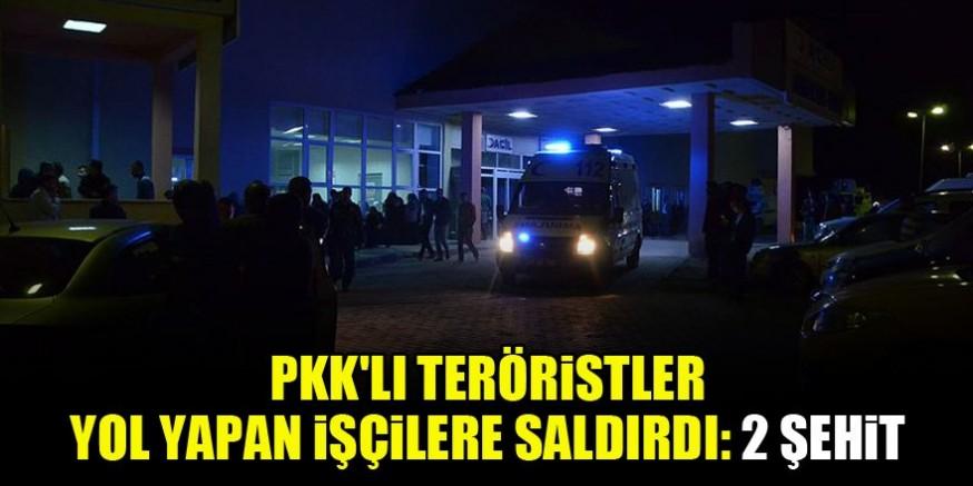 PKK'lı teröristler saldırdı: 2 şehit