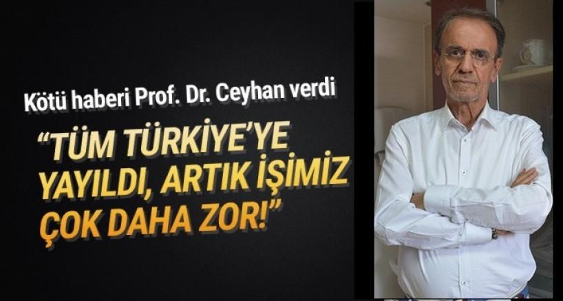 Prof. Dr. Ceyhan : Salgın tüm Türkiye'ye yayıldı