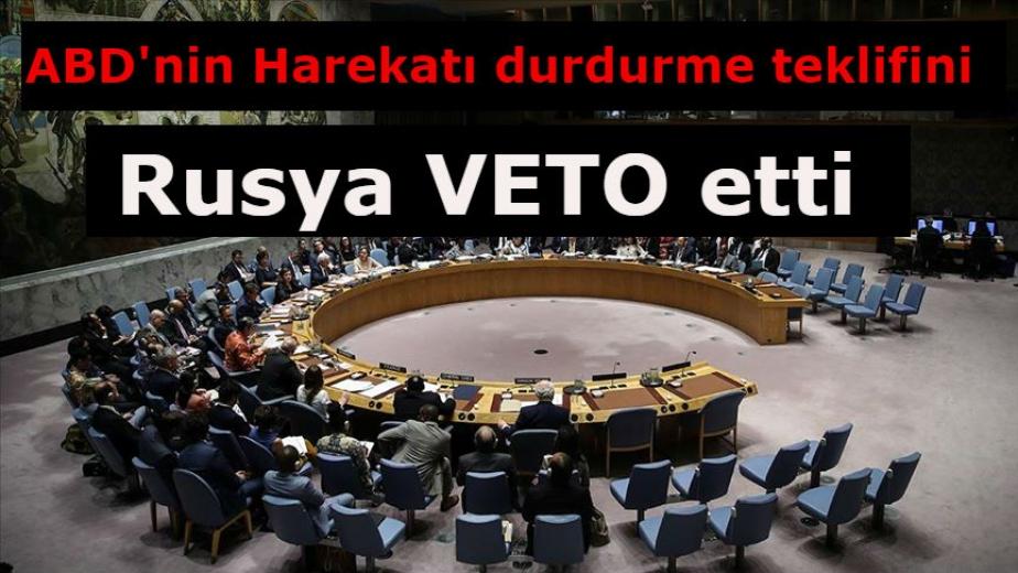 Rusya BMGK'nin Türkiye'nin harekatı durdurma çağrısını veto etti