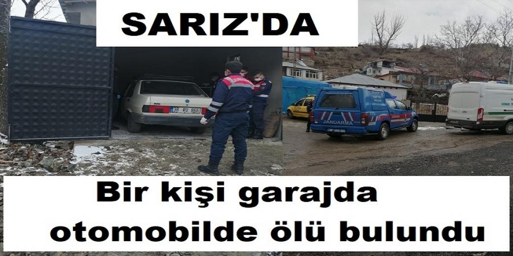 Sarız' da bir kişi komşusunun garajında otomobilde ölü bulundu