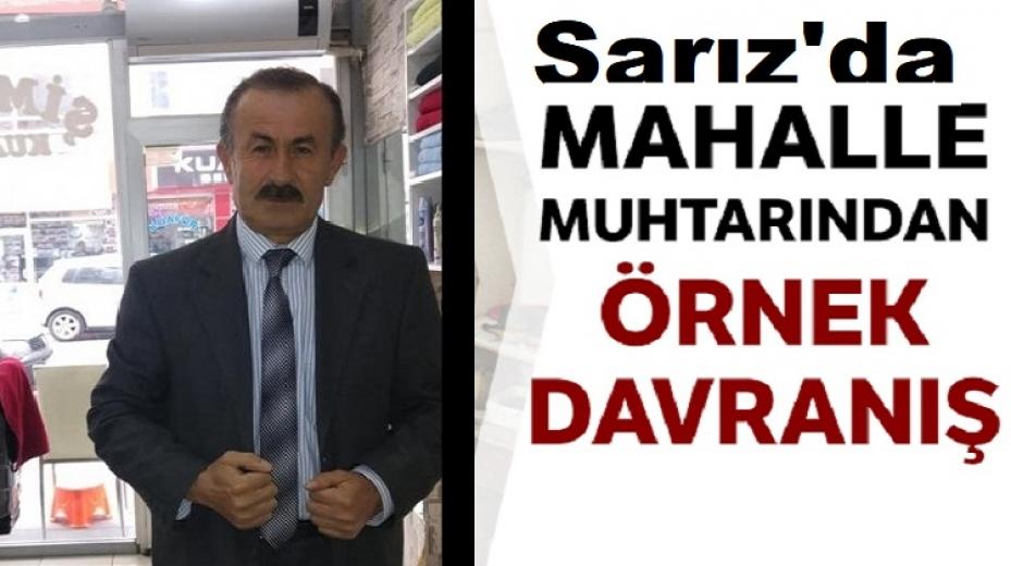 Sarız'da mahalle muhtarı 4 aylık maaşını ihtiyaç sahiplerine bağışladı
