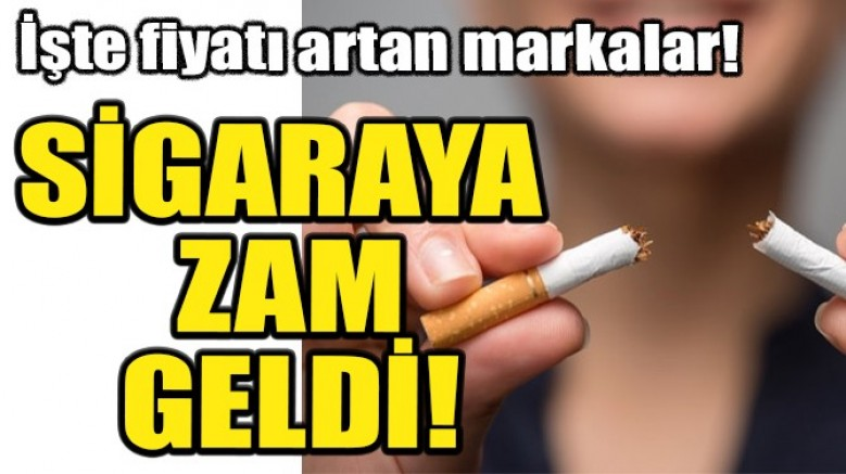 Sigaraya diğer markalar zam yaptı