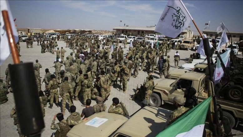 Suriye Milli Ordusu ( ÖSO)  Münbiç cephe hattına yığınak yaptı
