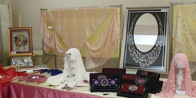 Hacılarda el sanatları sergisi büyüledi