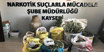 Kayseri'de 58 kilogram esrar ele geçirildi