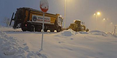 Kayseri'de karla mücadele çalışmaları
