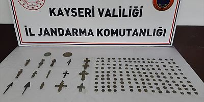 Kayseri'de tarihi eser operasyonunda 5 kişi gözaltına alındı