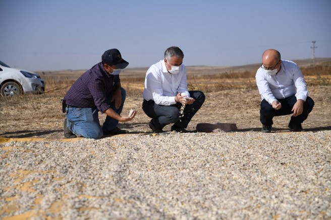 Tarım ve Orman İl Müdürü Şahin'den Tomarza'da çiftçi ziyareti